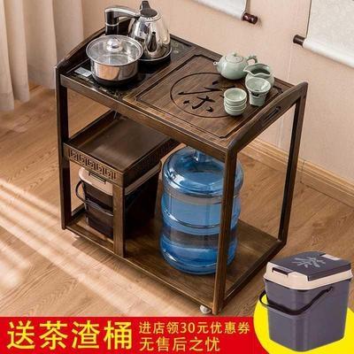 带轮移oz客厅茶水桌fo的茶几饮水机柜子可放水桶边几
