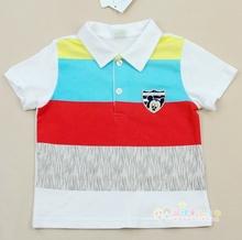 断码清oz0 丽婴房fo柜正品  夏新式男童短袖T恤POLO衫2338