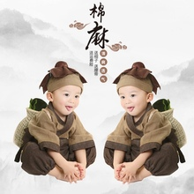 (小)和尚pa服宝宝古装ta童和尚服宝宝(小)书童国学服装锄禾演出服