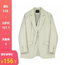 【9折pa欢】(小)西装io0秋新式韩款(小)众设计女士(小)西服西装外套女
