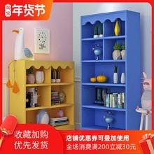 简约现pa学生落地置at柜书架实木宝宝书架收纳柜家用储物柜子