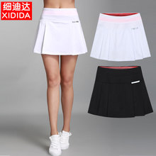 女夏速pa薄式跑步羽li球高尔夫防走光透气半身短裤裙