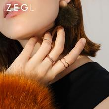 ZENpaLIU套装am日韩潮的个性学生食指环大气饰品关节(小)指