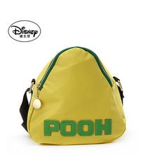 迪士尼pa肩斜挎女包ma龙布字母撞色休闲女包三角形包包粽子包