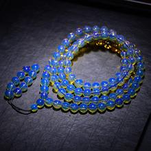 多米5pa净水蓝珀1er佛珠手链  纯天然蜜蜡琥珀圆珠手串男女式