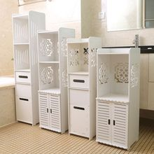 卫生间pa物架落地浴er柜洗手间洗漱台夹缝储物架厕所马桶边柜