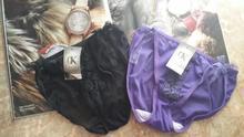 80元免邮*pa3腰女士三ty均码 (小)尺码女三角 少女内裤*黑/紫色