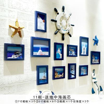 大厅墙壁pa1室内画is墙上的相框楼梯照片墙会所照片墙挂饰