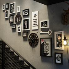 北欧装饰照片pa3楼梯现代is相片墙创意个性楼道相框挂墙组合