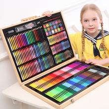 水彩笔套装彩色笔pa5儿园画画ca童(小)学生72色颜色笔可水洗无毒水彩画笔初学者蜡