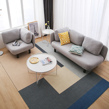 北欧布pa沙发简约时se单的双扔三的公寓(小)户型店铺装饰沙发