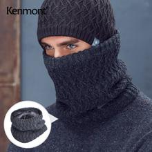 卡蒙骑pa运动护颈围se织加厚保暖防风脖套男士冬季百搭短围巾