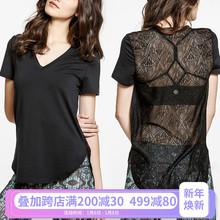 韩版时尚运动健身T恤女速