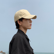 帽子男pa的牌夏天韩sa纯色舒适软顶鸭舌帽男女士棒球帽遮阳帽