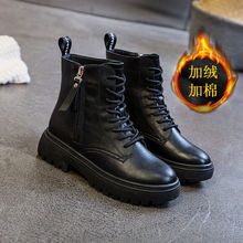 15马pa靴女鞋20hl式英伦风棉鞋女冬季靴子加绒百搭增高短靴