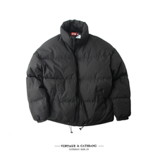 冬季保pa加厚男式潮ri宽松复古立领棉服棉衣轻盈短式面包服