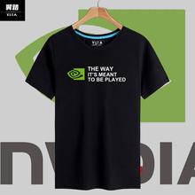 GTX英伟达NVIDIA显pa10迷装机br短袖T恤衫男女纯棉衣服半袖