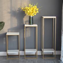北欧花pb子铁艺金色zy约现代客厅室内花盆架绿萝落地置物花架
