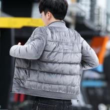 202pb冬季棉服男tn新式羽绒棒球领修身短式金丝绒男式棉袄子潮