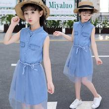 。夏装pc女童7背带wn连衣裙子8宝宝装9(小)女孩10衣服11夏天12岁