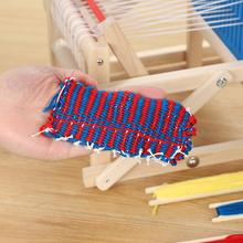 宝宝手pc编织机 木hrdiy玩具制作围巾纺车编织女孩6岁