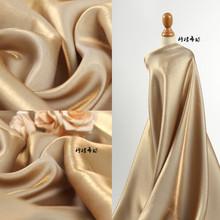 渐变金pc超柔软高垂hr绸缎丝滑礼服婚纱亮面创意面料