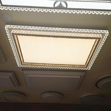 客厅灯pe代简约lear灯灯具卧室灯水晶灯房间灯大气大灯长方形