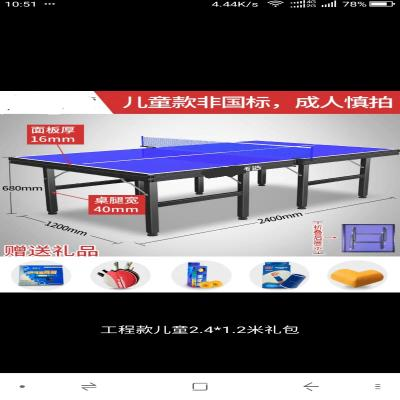 简易儿pe(小)学生迷你lc桌摆摊学习桌家用室内乒乓球台