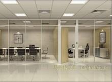沈阳墙pe办公室高隔an阁墙铝合金隔断墙双层玻璃带百叶