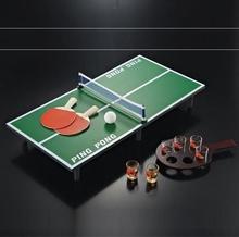 竞技会pe通用球拍专dl桌台桌上乒乓球(小)型酒吧家庭
