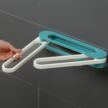 可折叠pe室拖鞋架壁th打孔门后厕所沥水收纳神器卫生间置物架