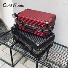 [peruv]ck行李箱男女24寸铝框