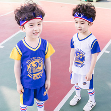 [pgwh]儿童篮球服套装男童夏中小