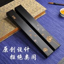 创意实木镇纸ph3尺中国风ga工艺雕刻文房四宝书法压纸石定制