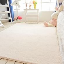家用短ph丝毛地毯卧to同式床边满铺客厅茶几沙发地垫房间米色