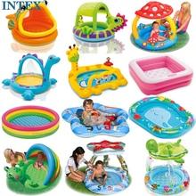 包邮送ph 正品INto充气戏水池 婴幼儿游泳池 浴盆沙池 海洋球池