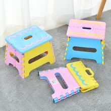 瀛欣塑pi折叠凳子加no凳家用宝宝坐椅户外手提式便携马扎矮凳