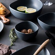 陶典家pi创意简约可za碗陶瓷米饭碗沙拉碗泡面碗汤碗星石