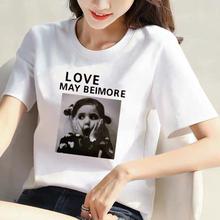 【10pi%纯棉】2ka夏季新式白色韩款短袖t恤女宽松大码女