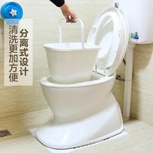 仿真马pi可移动座便ky孕妇病的室内厕所两用便携式塑料坐便椅