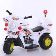 宝宝电pi摩托车1-in岁可坐的电动三轮车充电踏板宝宝玩具车