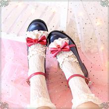 【原创pi雪姬】日系ng丽塔Lolita甜美花边蝴蝶结公主少女单鞋