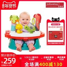 infpintinobo蒂诺游戏桌(小)食桌安全椅多用途丛林游戏
