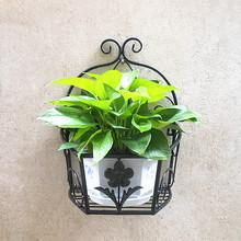 阳台壁pi式花架 挂bo墙上 墙壁墙面子 绿萝花篮架置物架