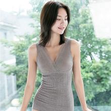 秋冬女pi压瘦身塑身bo腹美背美体上衣束身背心打底衫保暖内衣