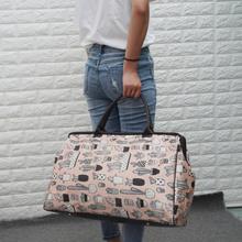 韩款大pi量单肩简约bo手提袋可包行李包女旅游包男