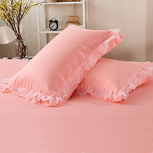 [pinkt]韩版公主蕾丝花边枕套一对