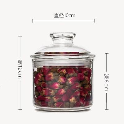 罐有机pi璃塑料瓶子oy克力罐厨房储物密封透明杂粮出口