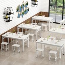餐桌椅pi合现代简约yp烤店快餐厅(小)吃店大排档早餐店面馆桌子