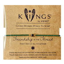 VIKpiKO【健康el(小)众设计女生细珠串手链绳绿色友谊闺蜜好礼物